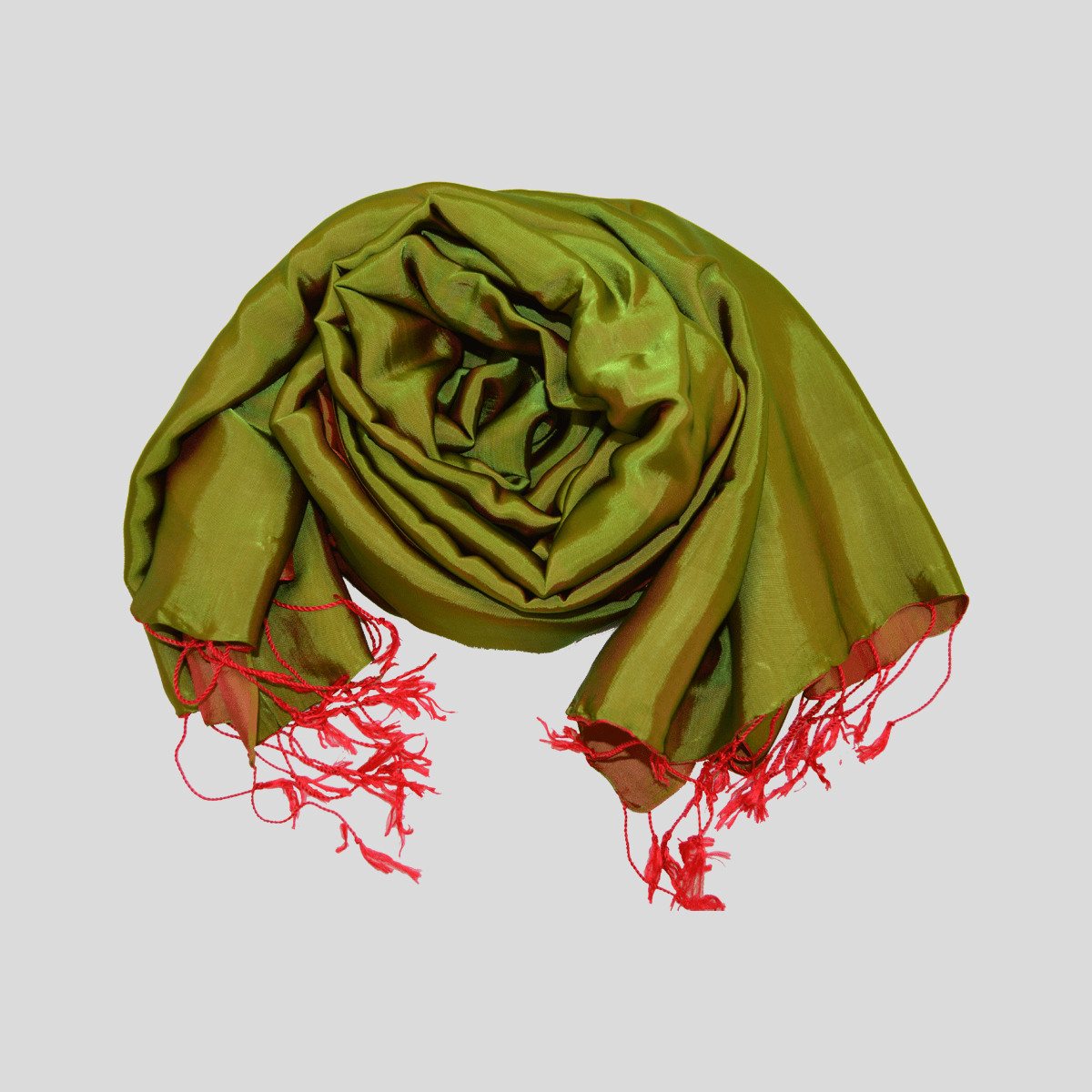 Double color wild silk scarf