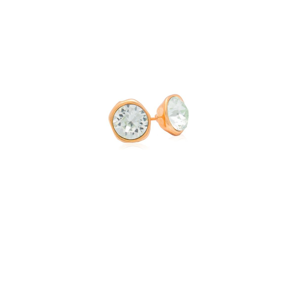 Isabella stud earring with different colored swarovski crystal