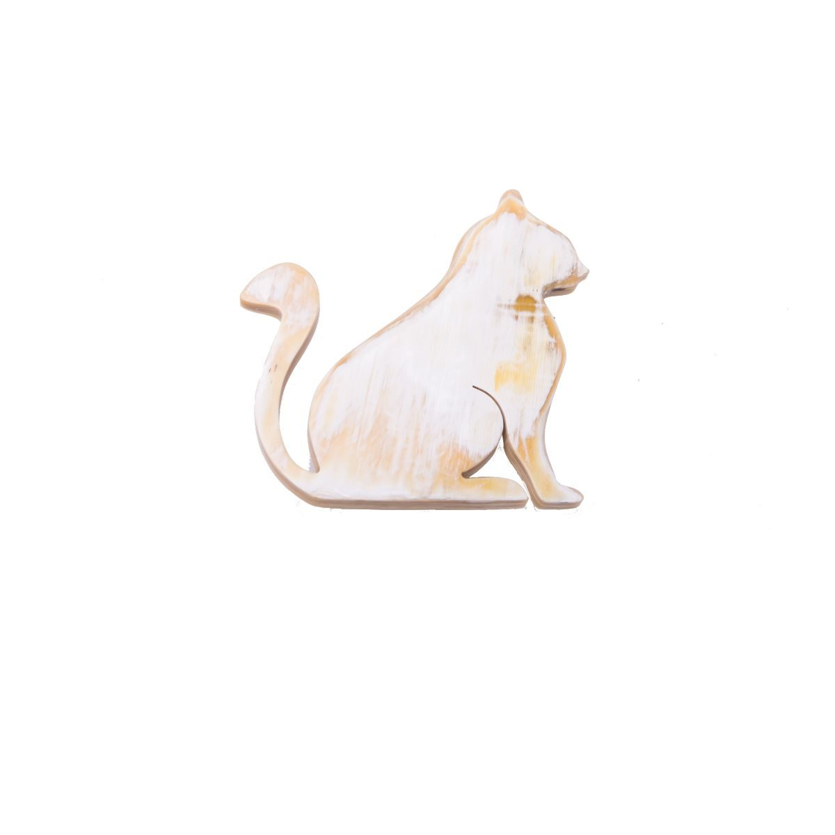 Crookshanks broche de asta natural en forma de gato
